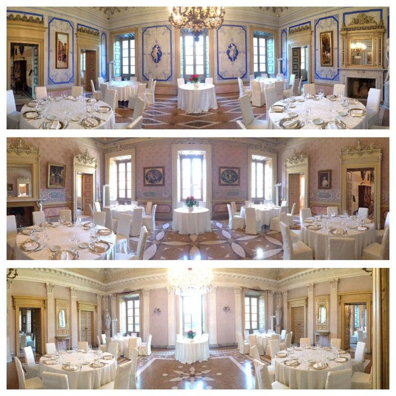 Panoramica sala blu, sala imperiale e sala rosa