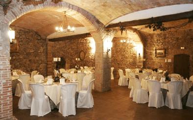 Banquete en el interior de la Masía