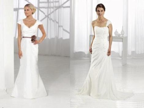 Beispiel: Hochzeitskleider, Foto: Brautmoden Wiese.