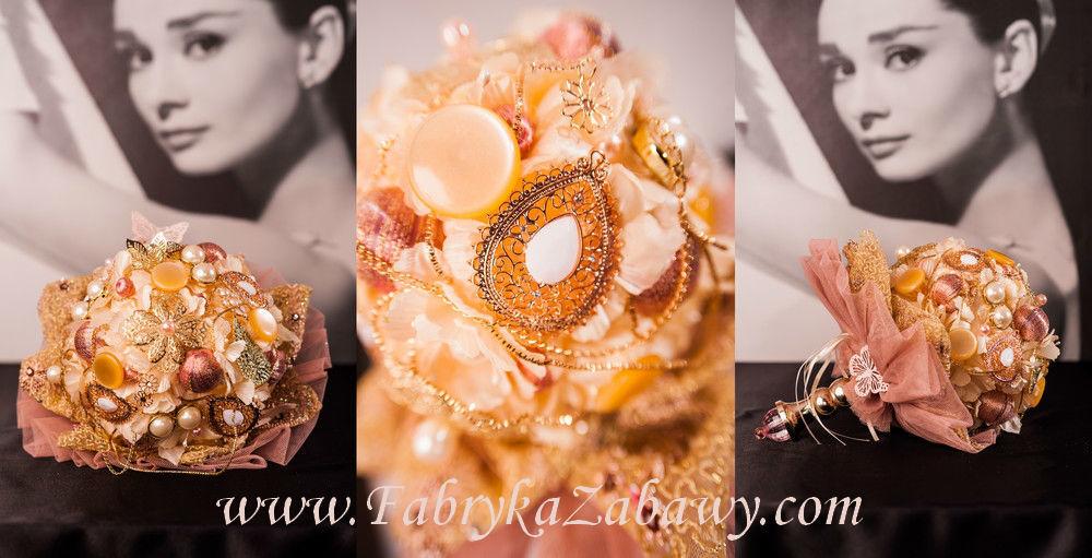 Biżuteryjny bukiet ślubny