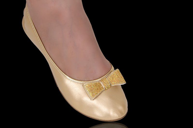 Serie Top Premium Dourada com Laço Clássico de Lantejoulas