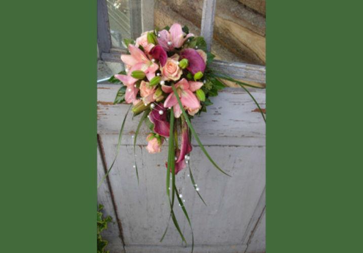 Beispiel: Der Strauß für Ihre Hochzeit, Foto: Haus Blumengeschäft und Gärtnerei.