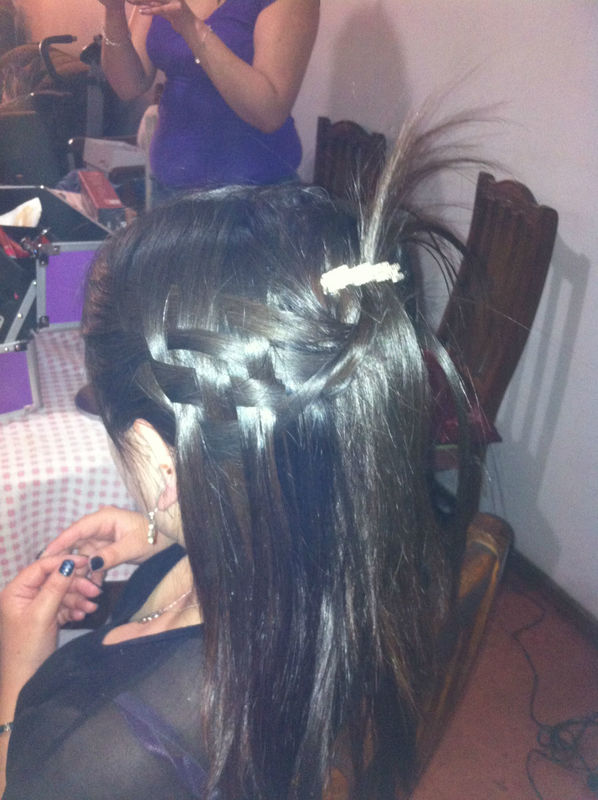 Peinado tipo cascada