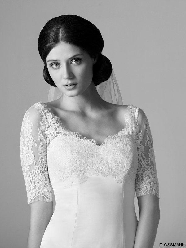 Beispiel: Exklusive Brautmode, Foto: Brautsalon Flossmann.