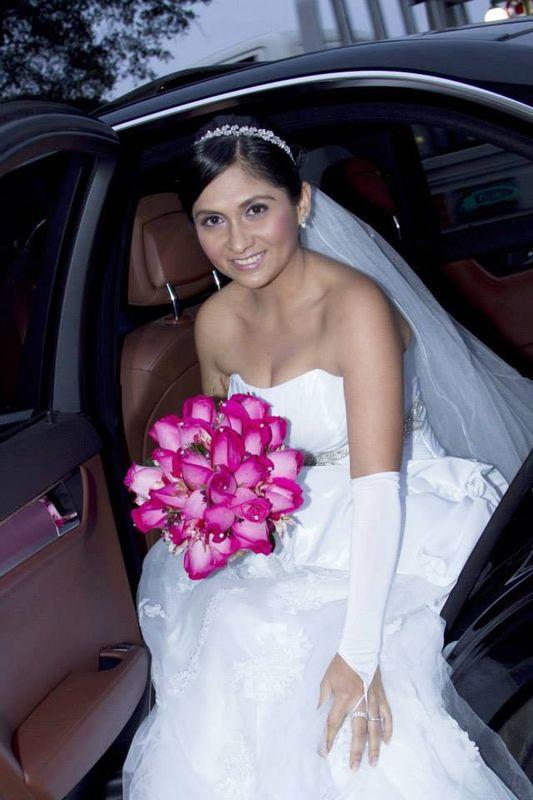 Novia Karina Pereda Sanchez.