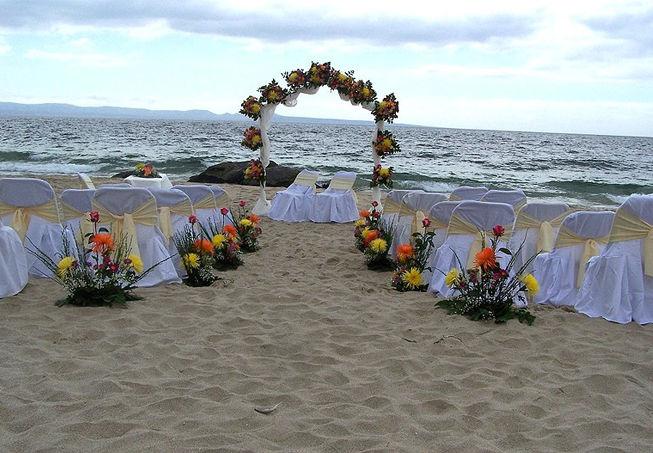 Ceremonia en la Playa.
