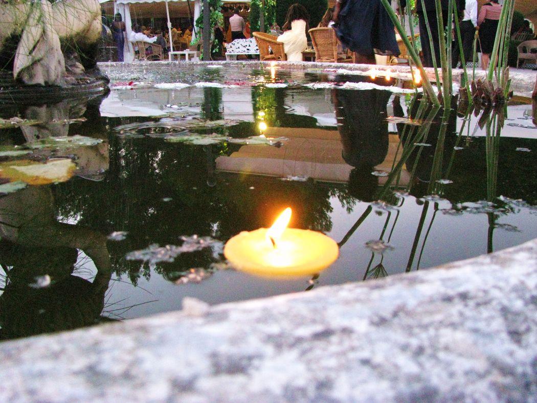 Lago com velas