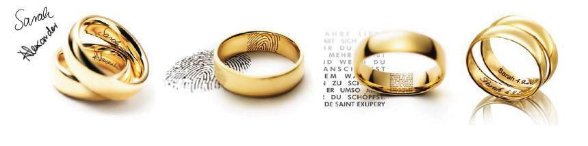 Beispiel: Persönliche Trauringe, Foto: Juwelier Nadler.