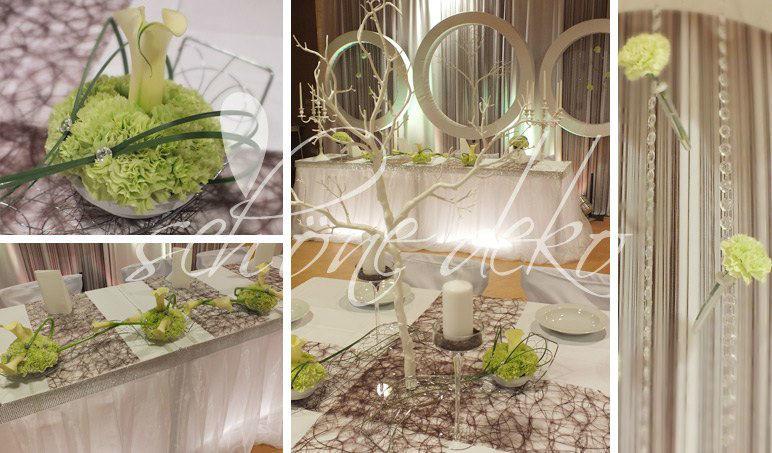 Beispiel: Hochzeitsdekoration vom Profi, Foto: Schöne Deko.