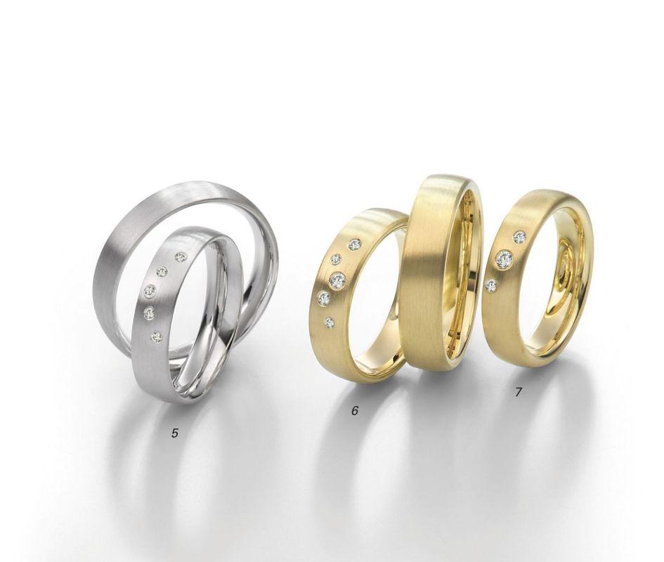 Beispiel: Trauringe Gold / Silber, Foto: Juwelier Uhren Görde.