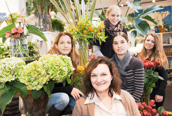 Beispiel: Das Team, Foto: Blumenzauber.