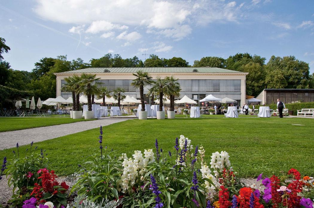 Beispiel: Außenansicht, Foto: Schlosscafé im Palmenhaus.