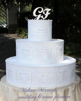 il maestoso tableau  in tema con l'evento:le torte