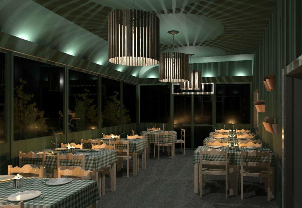 Projecto de restaurante, por Oito em Branco