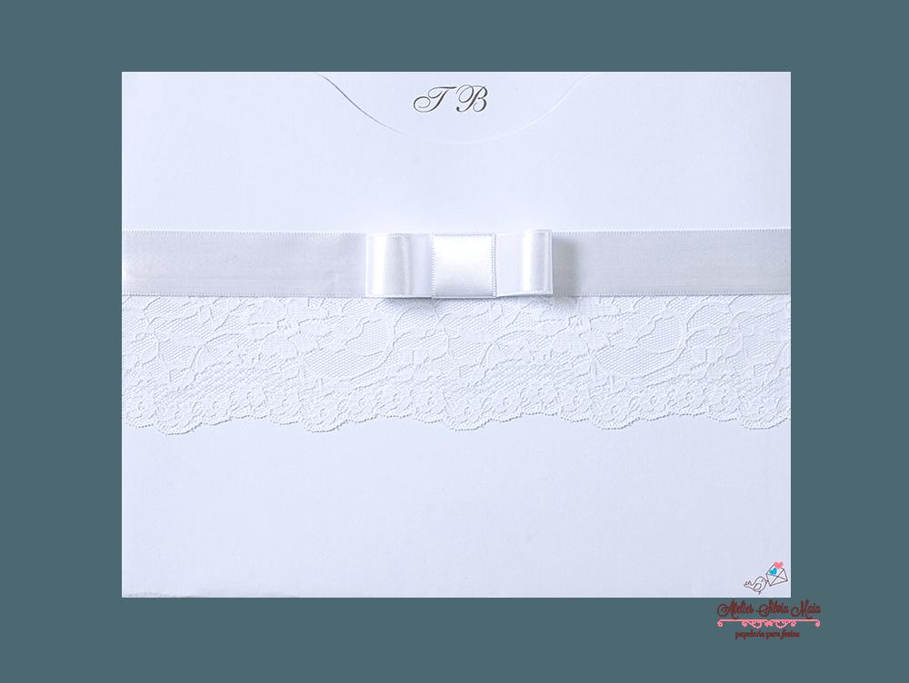 Convite  Luva com bico de renda - Ref. CS.0172