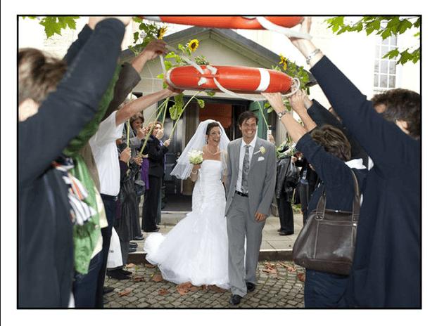 Beispiel: Hochzeitsreportage, Foto: Julio Flores Photography.