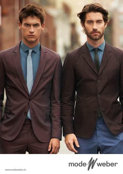 Beispiel: Anzüge in verschiedenen Farben, Foto: Mode Weber.