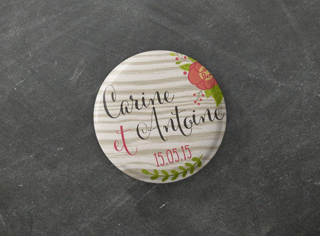 Badge Collection Natural Mademoiselle Créa