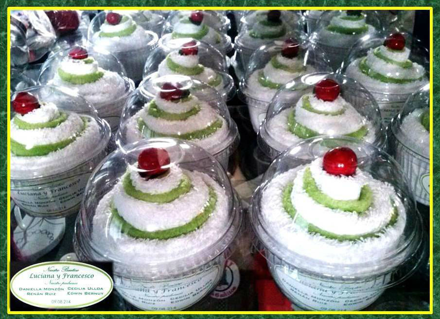 Sweet Cake Perú-modelo cupcake 1 toalla facial 30 x 30cm