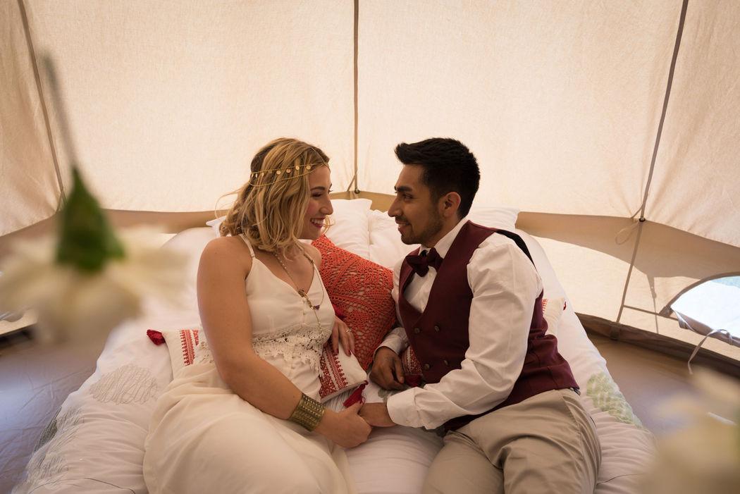 Tipi Les Mariés Crédits photo : Laura Michel - Mon Wedding Camping