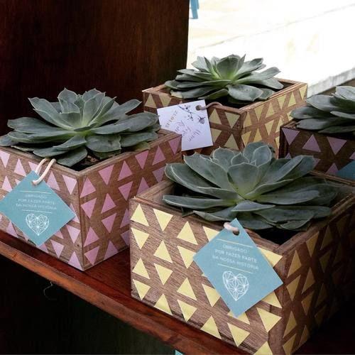 Brinde handmade para os convidados