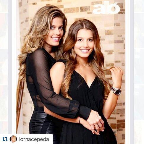 Maquillaje y peinado para la actriz Lorna Cepeda y su bella hija, para la revista aló.