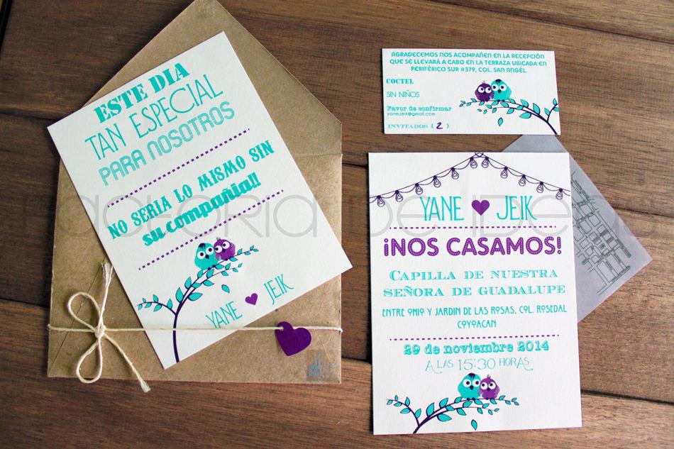 Invitación súper original y exclusiva con muchos detalles que cautivaron a los invitados