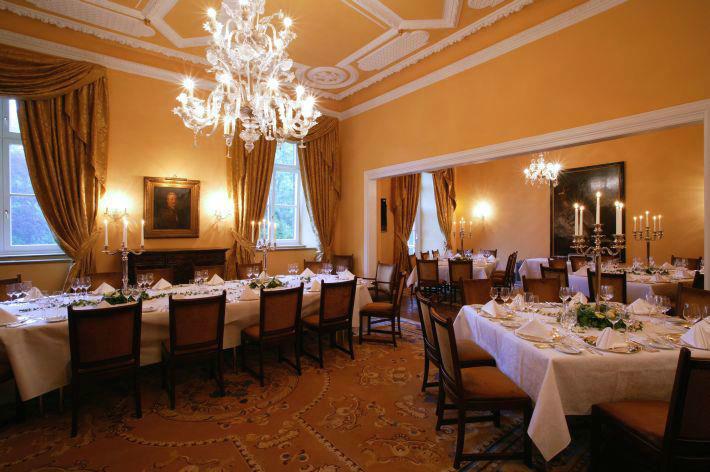 Beispiel: Festsaal, Foto: Schlosshotel Hugenpoet.