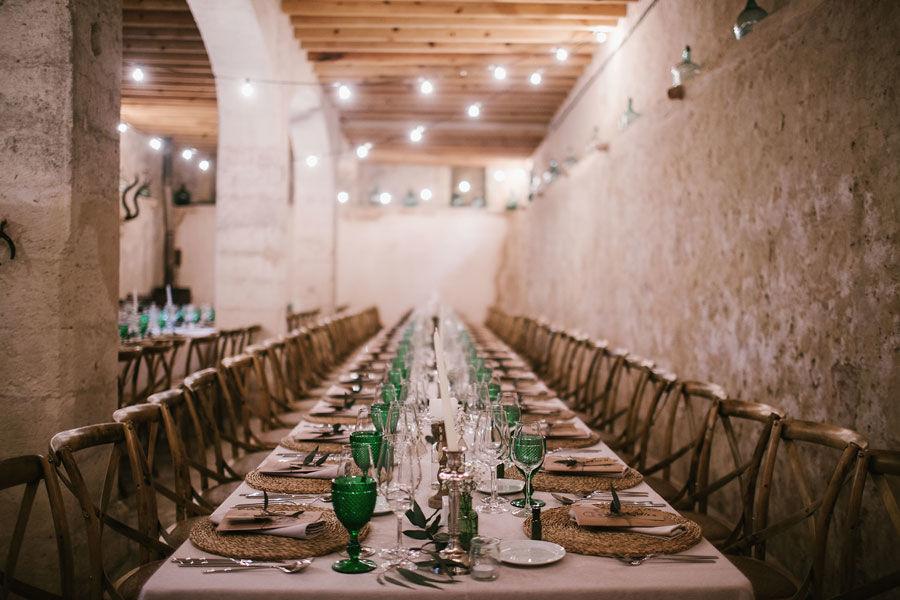Organización de Bodas / Banquete interior finca - boda en Mallorca