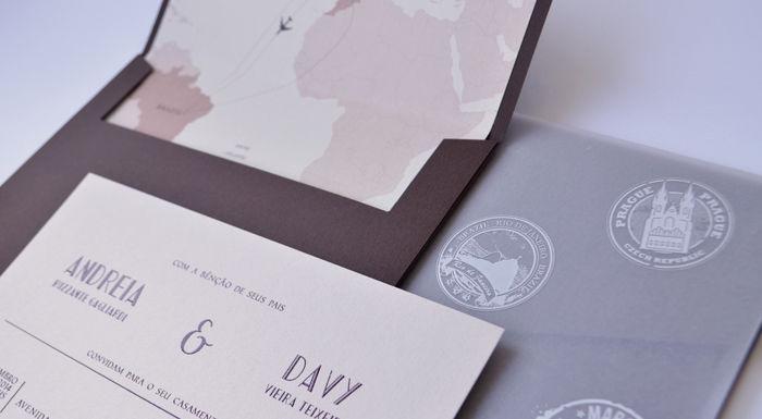 Convite de casamento mapa Susana Fujita