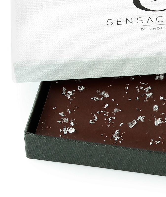 Chocolate negro con escamas de sal Maldon