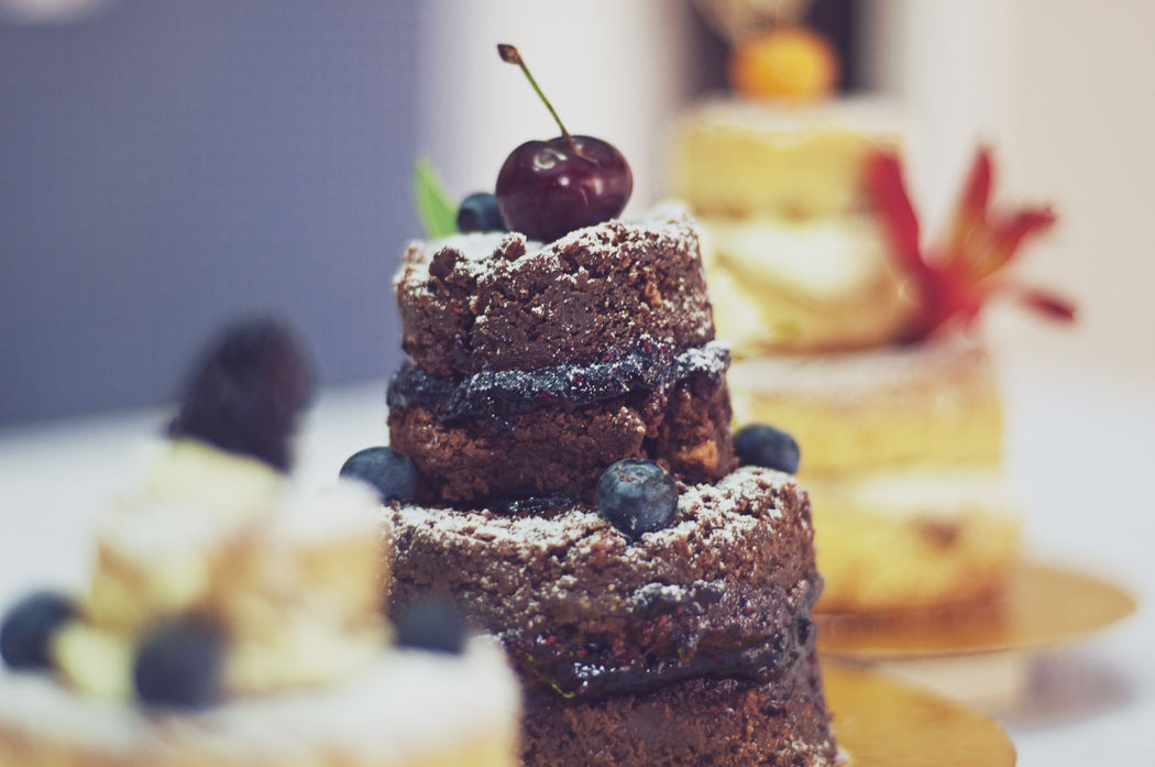 Mini Naked Cakes de Brownie ou Baunilha