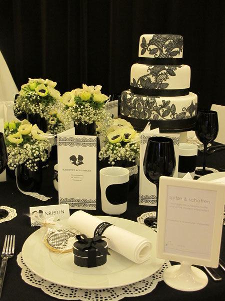 Beispiel: Hochzeitstorte Kollektion Spitze, Foto: Madame Miammiam.