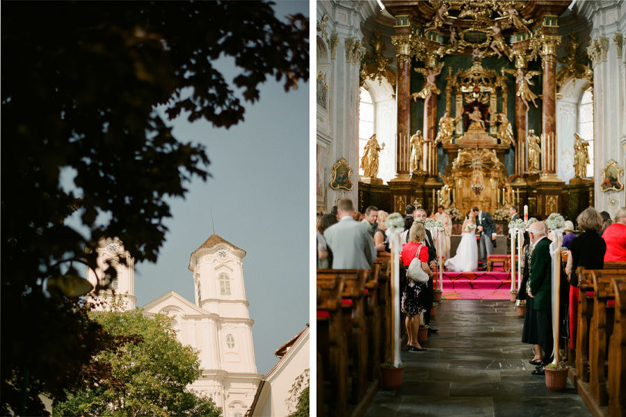 Foto: Schloss und Kirche