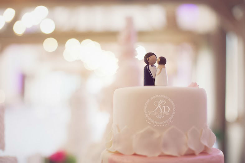 Wedding Cake et ses cake topper