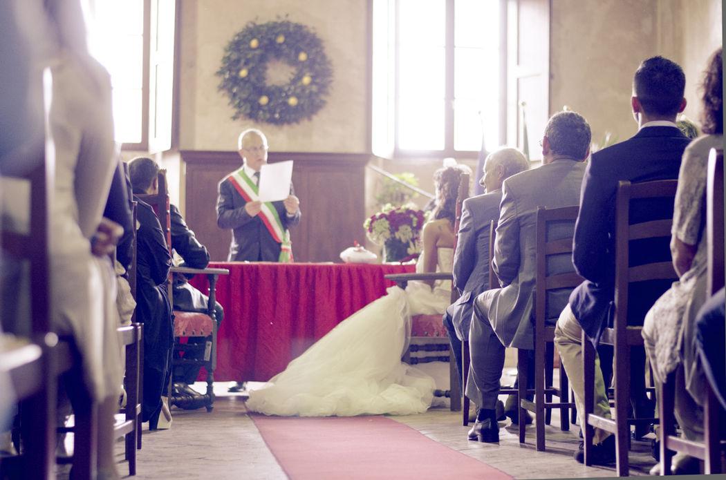 Cerimonia nella sala Matrimoni