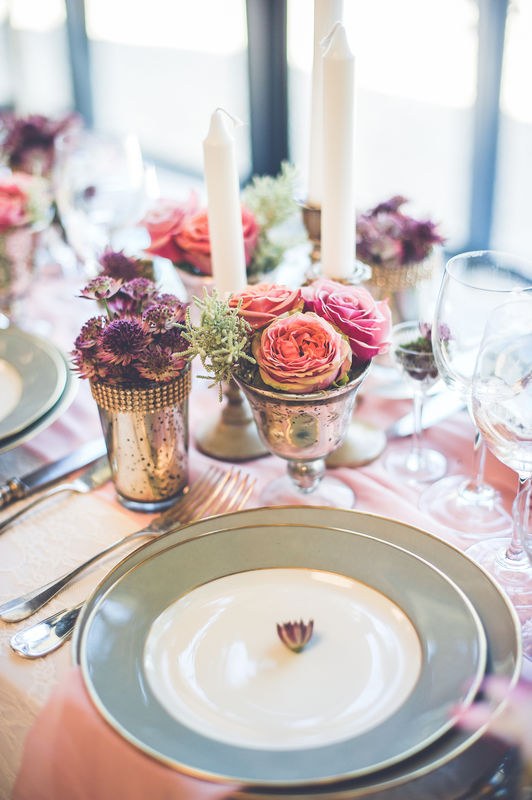 Décor floral de la table