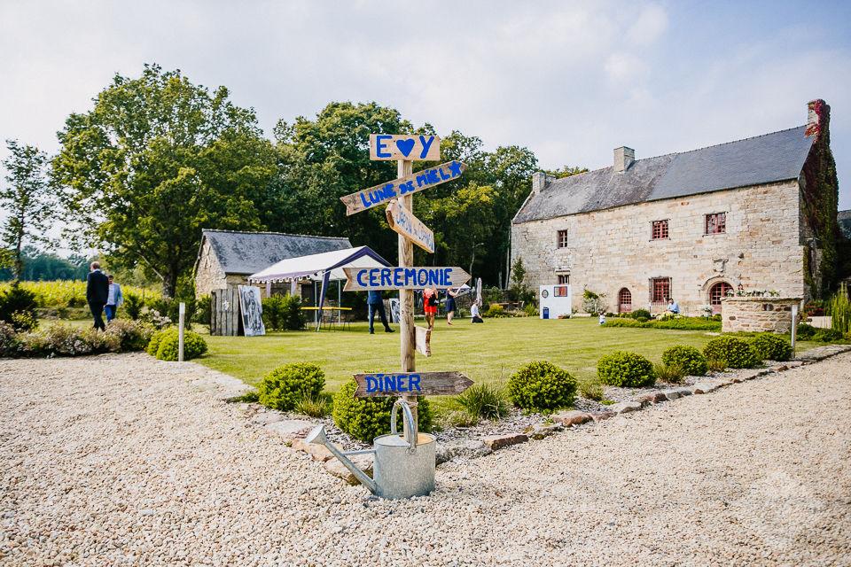 Cour d'honneur - Mariage champêtre - Manoir de la Mare Côtes d'Armor