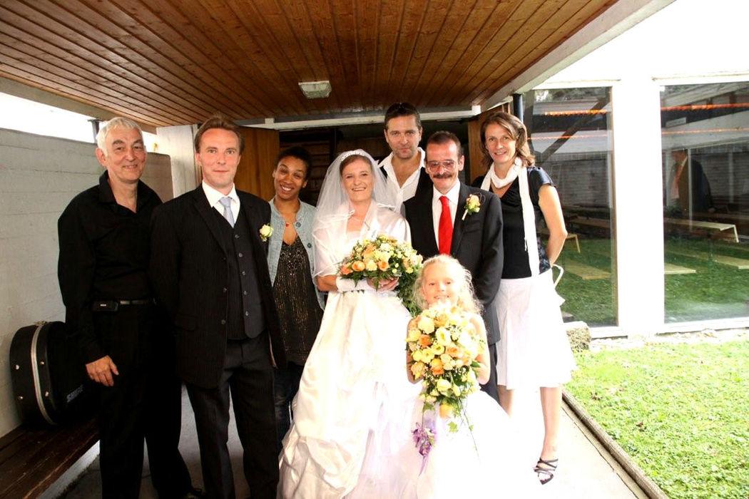 Beispiel: Das Gospelteam bei der Hochzeit, Foto: Gospel meets Vienna.