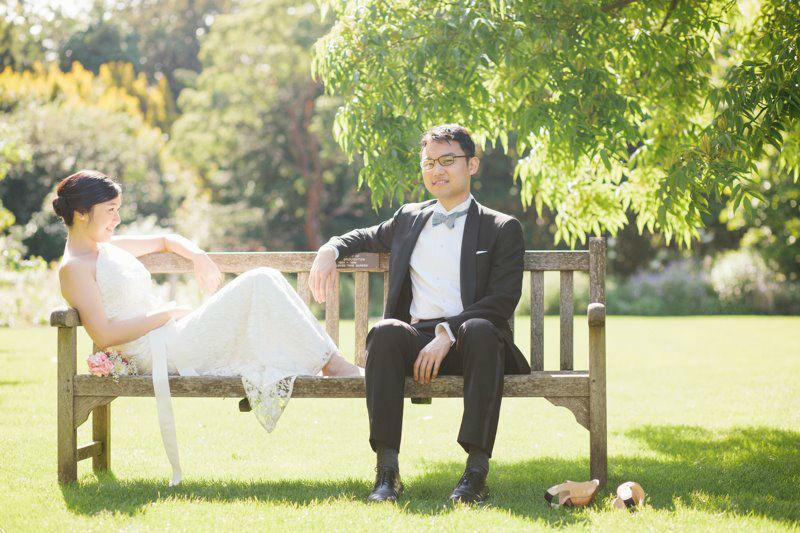 Beispiel: Individuelle Hochzeitsfotos, Foto: Bell Studio Esther & Gabe.