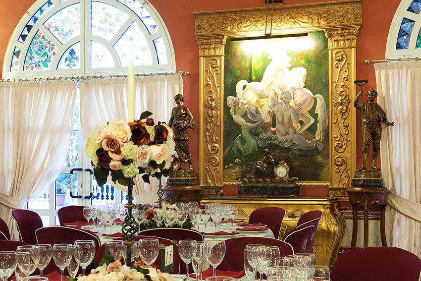 Interior salón comedor Salón Versalles. Hacienda Azahares