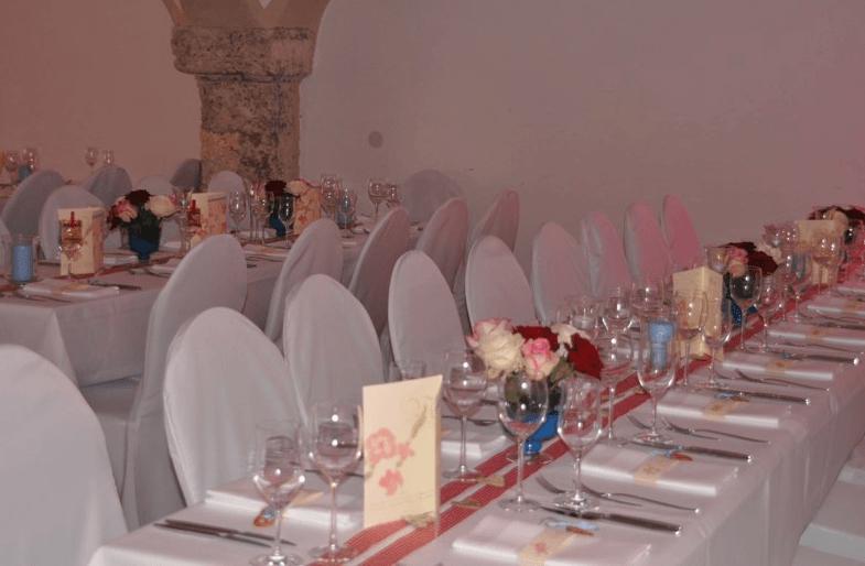 Beispiel: Hochzeitsbankett, Foto: Augustlhof.