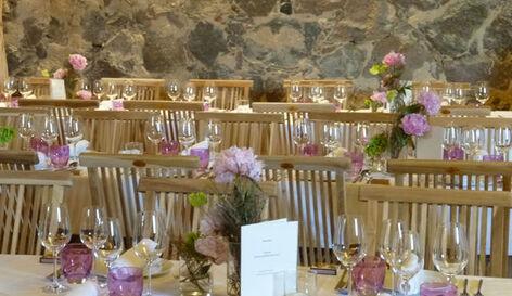 Beispiel: Tischdekoration, Foto: ich will! Hochzeiten & Events.