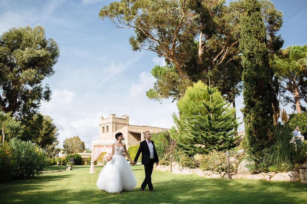 Свадьба в средневековом замке Mas Falet 1682 в Испании. Андрей и Светлана. Фотограф Дмитрий Печерский