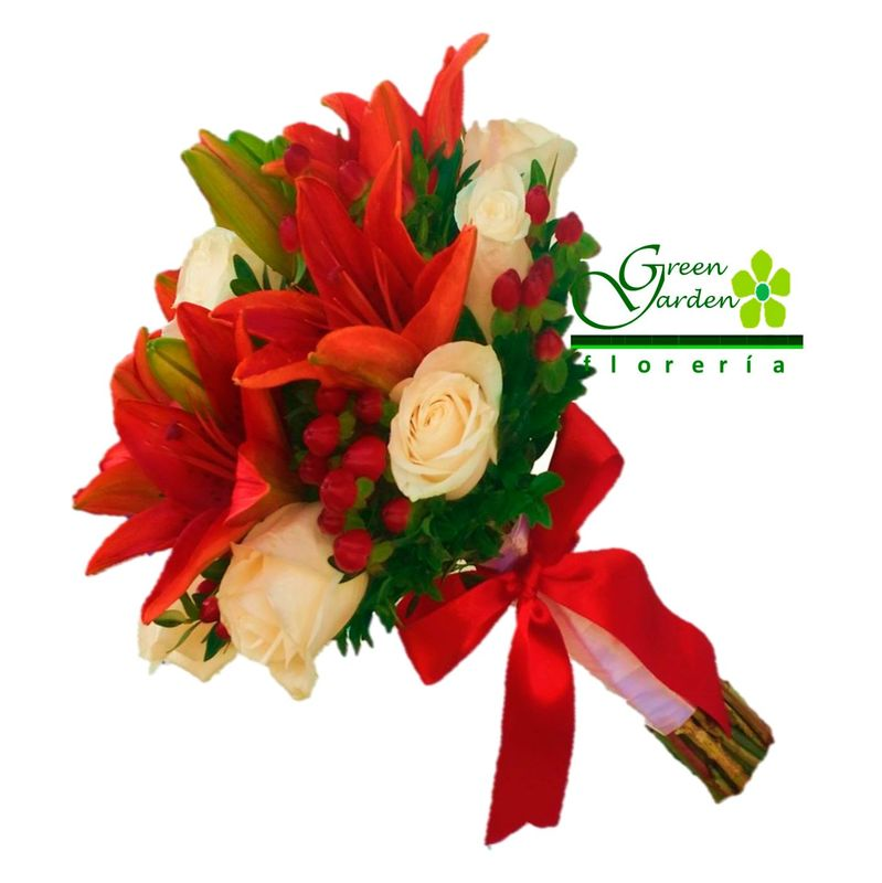 BOUQUET DE LILIUMS Y ROSAS