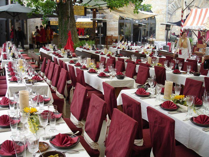 Beispiel: Tischdekoration, Foto: In den Kasematten.