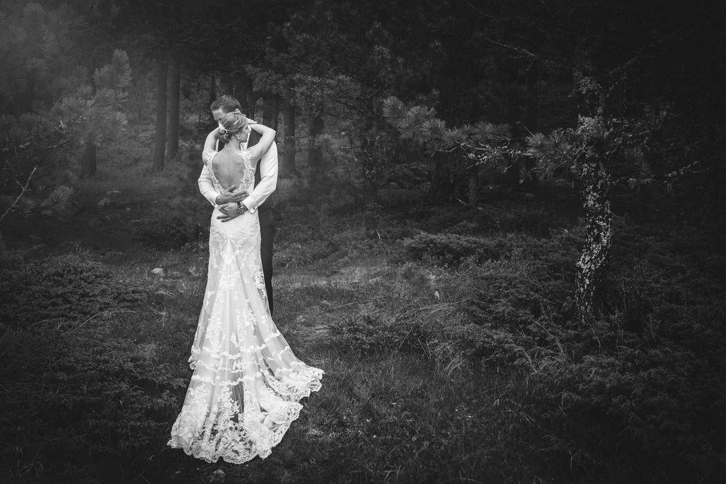 Schwarz weiss Hochzeitsfotografie