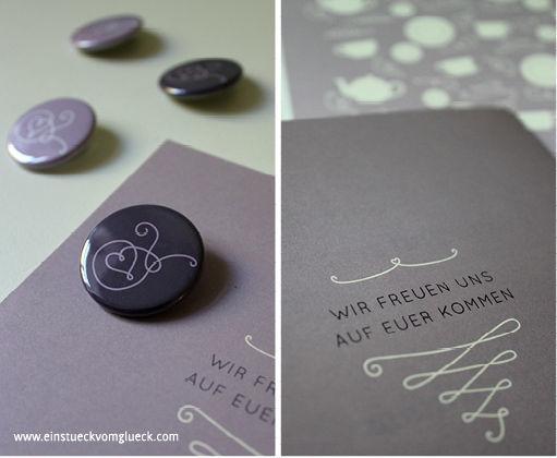 Beispiel: Hochzeitskarten, Foto: Ein Stück vom Glück.