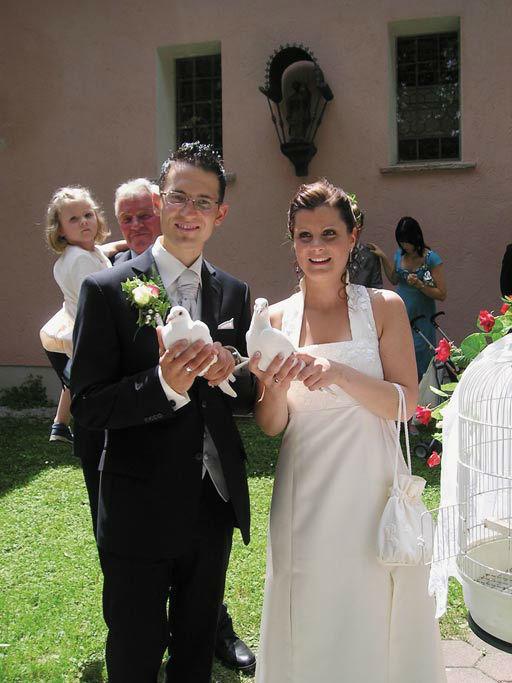 Beispiel: Der Hochlass, Foto: Hochzeitstauben Fleckner.