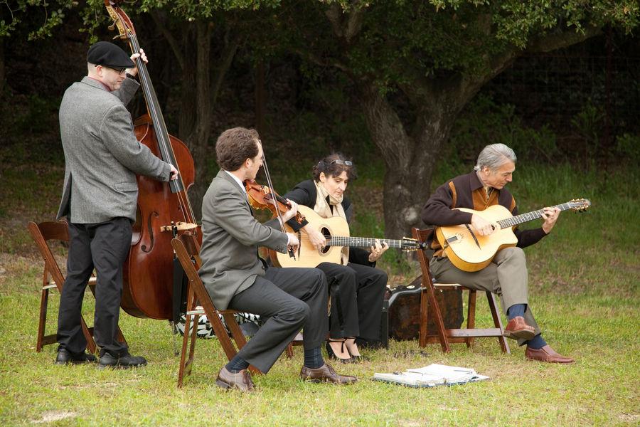 Músicos no Jardim